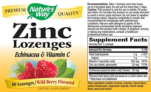 Nature's Way Zinc Lozenge, 60 Lozenges by Nature's Way (Image #4)