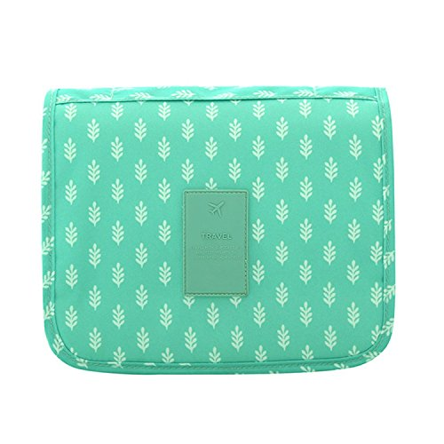 Dopp Kit,Mossio Storage Diaper Bag Cosmetics Luggage Organizer Gift for Traveler Green Leaves