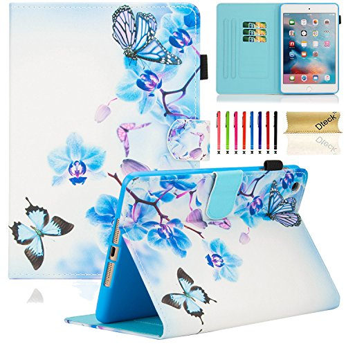 Dteck iPad Mini 1/2/3 Case - Slim Fit [Stylus Slot] Folio Stand PU Leather Smart Wallet Case with Auto Wake/Sleep Magnetic Cover for Apple iPad Mini 3 / iPad Mini 2 / iPad Mini 1, Blue World Is Disney World Open On Christmas Day