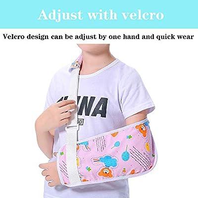 Eslinga de brazo para niñas con diseño de oso rosa y bonito patrón ...