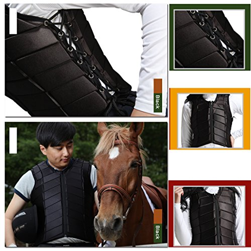 GFDHHNN Horse Riding Equestrian Body Protector Safety Eventer Vest Protection Protective (Black, L) by GFDHHNN (Image #5)
