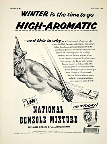 Review 1956 Ad National Benzole