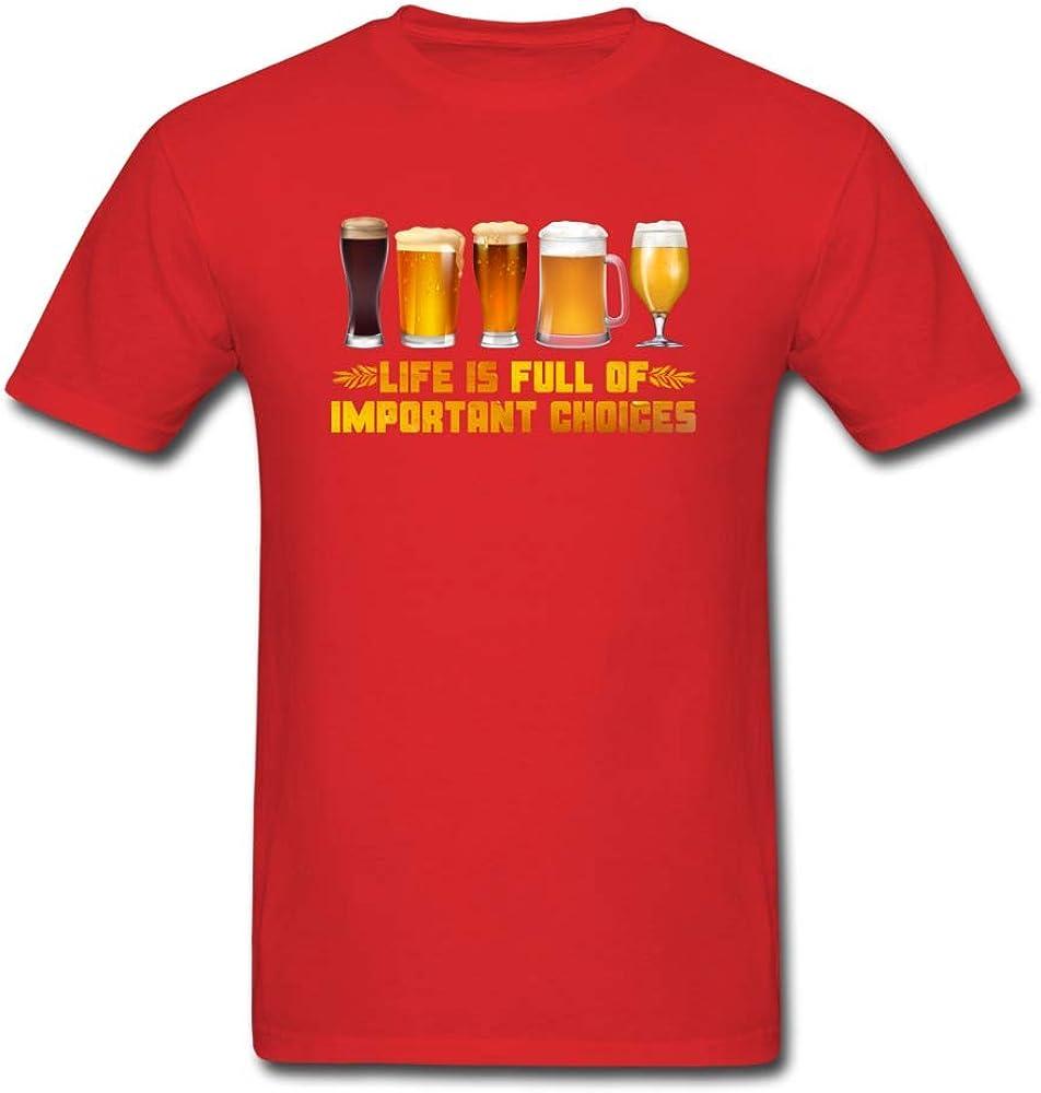 Norcadia Designs Life is Full of Important Choices Camisa de Cerveza para Hombres y Mujeres – Camiseta de Cerveza - Rojo - XX-Large: Amazon.es: Ropa y accesorios