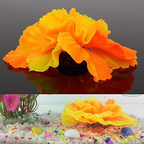 Kocome Silicone Artificial Coral Plant Aquarium Fish Tank Decor Underwater Ornament