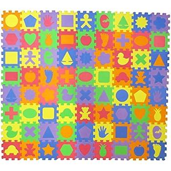 Amazon Com Foam Floor Alphabet And Number Puzzle Mat For