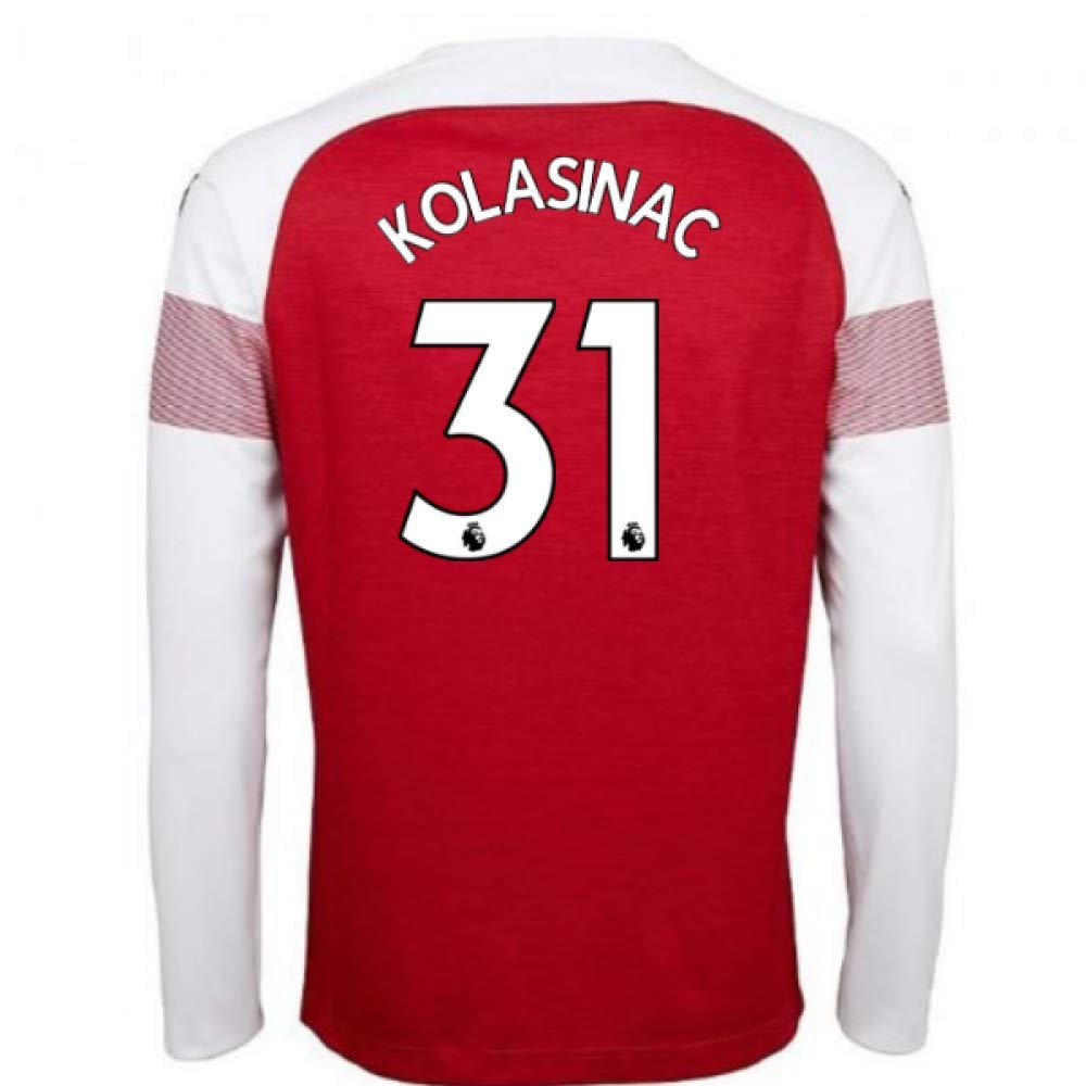 2018-2019 Arsenal Puma Home Long Sleeve Football Soccer T-Shirt Trikot (Sead Kolasinac 31)