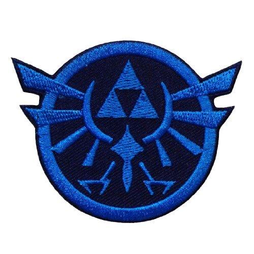 J/&C Legend of Zelda Hyrules Royal Crest 4 Gold Logo Embroidered Sew//Iron-on Patch
