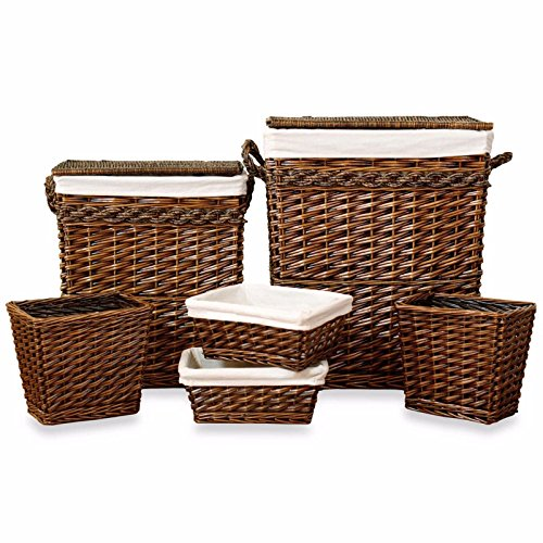 Set of Weston 6-piece Hamper by AytraHome