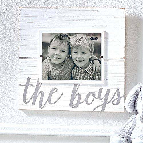 Mud Pie White-washed The Boys Scripted Frame 18