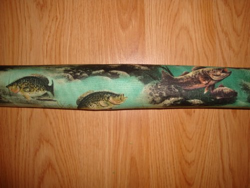 "Door Draft Stopper Filled with Fragrant Balsam - Standard 2"" X 38"" - Fish - Quality USA Made"
