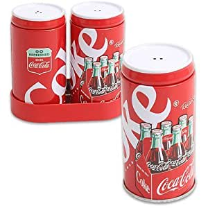 Coca Cola Salt and Pepper Shaker with Tray