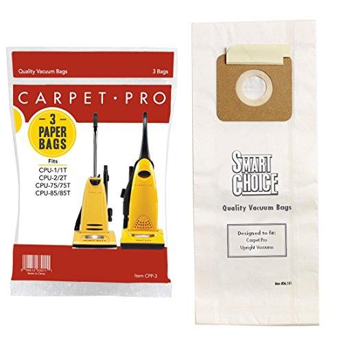 Carpet Pro CPP-3 Paper Vacuum Bags, 3-Pack (Vacuum Carpet Pro Bags)