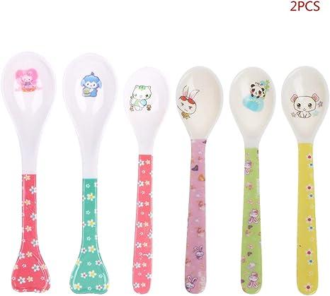 Baby fork and spoon toddler utensils feeding training child tableware set MC HK