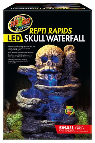 Waterfall Terrarium Reptile (Zoo Med Repti Rapids Led Waterfall Skull)