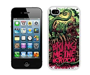 Hot Sale And Popular iPhone 4 4S Case Designed With Bring Me The Horizon White iPhone 4 4S Phone Case