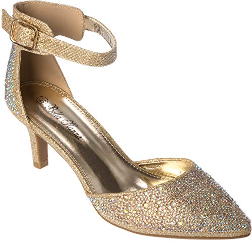 jupiter02 Womens Evening Sandal Rhinestone Gold Dress-Shoes Size 8 from Shoes Picker