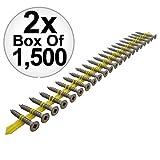 Quik Drive CB3BLG114S 1500pk 1-1/4'' x #10 Fiber Cement Backerboard Screws 2-Pack
