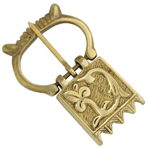 Crown of Glory Medieval Brass Costume Belt Fastener Buckle -