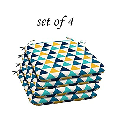 Comfort Classics Inc. Outdoor/Indoor Wicker Multi Colored Triangle seat Cushion (Set of 4) 20x19x2. in Polyester : Garden & Outdoor