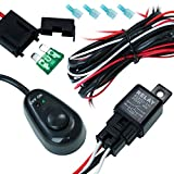 DT MOTO™ Off Road ATV/Jeep LED Light Bar Wiring Harness - 40 Amp Relay ON/OFF Switch