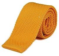 Tigre Amore Men's Skinny Knit Tie Solid