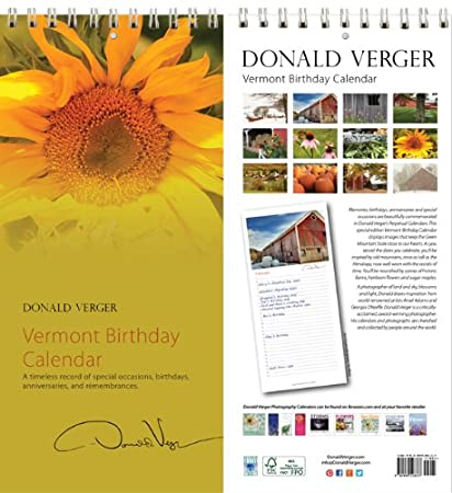 vermont sunflower birthday anniversary perpetual calendars unique gifts valentines day mothers day christmas - What To Get Dad For Christmas 2014