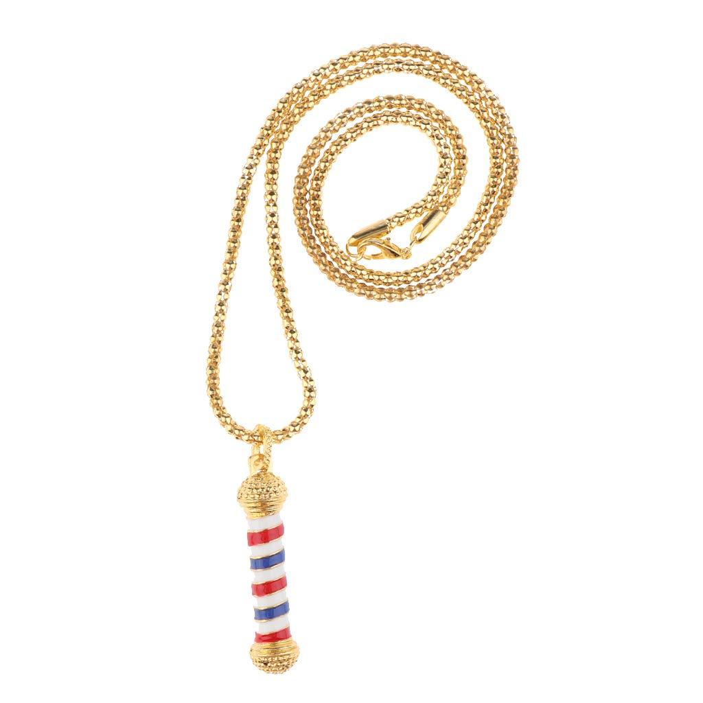 Dorado Homyl Barber/ías Personalizadas Luces en Espiral Collar Colgantes Cuello Regalos