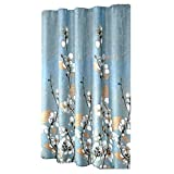 Magnolia Flower Pattern Shower Curtain Waterproof Bathroom Curtain, 180x180 cm