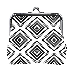 Coin Purse Aztec Black Womens Wallet Clutch Bag Girls Small Purse