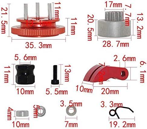 Fanuse Pattini Campana Frizione con Kit di Montaggio Volano 14T Gear Set per 1//8 RC Car HPI HSP per Axial Rosso Argento