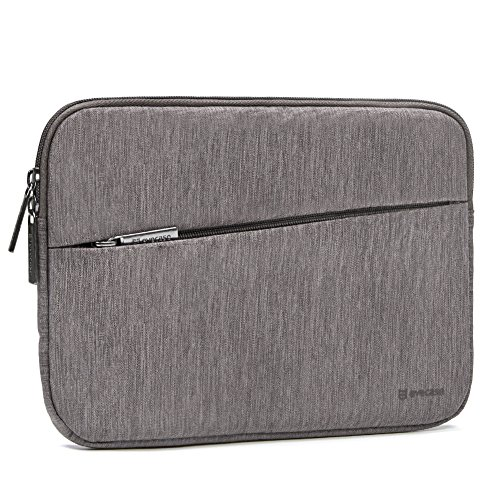 Evecase Water Repellent Shockproof Portable Carrying Sleeve Protective Case Bag with Accessory Pocket for 8-9.7-inch iPad Tablet - Warm - Inch Case For 9 Zipper Tablet