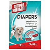 Simple Solution Disposable,Small Dog Diaper, 12 count