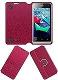 Acm Designer Rotating Flip Flap Case for Micromax Bolt Q324 Mobile Cover Pink