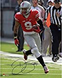 "Devin Smith Ohio State Buckeyes Autographed 8"" x 10"" Red Jersey Photograph - Fanatics Authentic Certified"