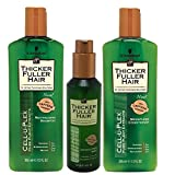 Thicker Fuller Hair Revitalizing Shampoo, Weightless Conditioner, 12 Oz, and Instantly Thick Serum, 5 Oz (Bundle of 3)