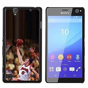 Raiser 8 Baloncesto- Metal de aluminio y de plástico duro Caja del teléfono - Negro - Sony Xperia C4 E5303 E5306 E5353