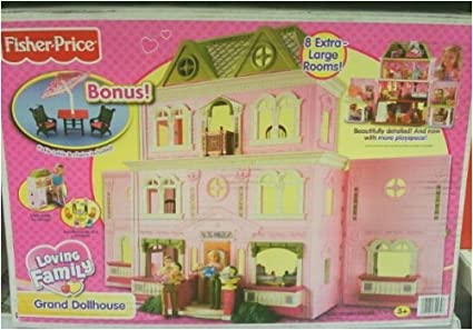 Fisher Price Loving Family Grand Dollhouse Twin Time Bonus Patio Furniture  Set