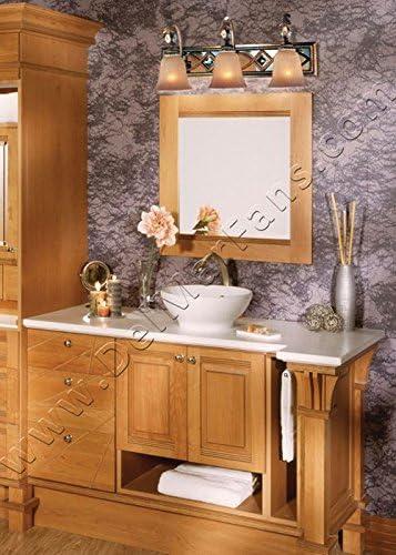 Minka Lavery Wall Light Fixtures 6744-206 Aston Court Reversible Mirrored Bath Vanity Lighting, 4 Light, 400 Watts, Bronze