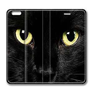 Brian114 5C Case, iPhone 5C Case - Best Protective Scratch-Proof Leather Cases for iPhone 5C Cute Black Cats With Yellow Eyes Customized Design Folio Flip Leather Case Cover for iPhone 5C Inch