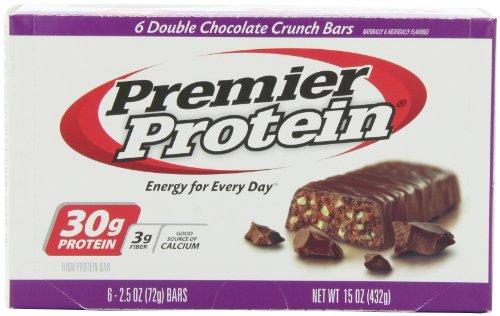 Премьер Белок Пищевая Бар, Двойной Шоколад Crunch, 2,53 Унция (в упаковке 6)