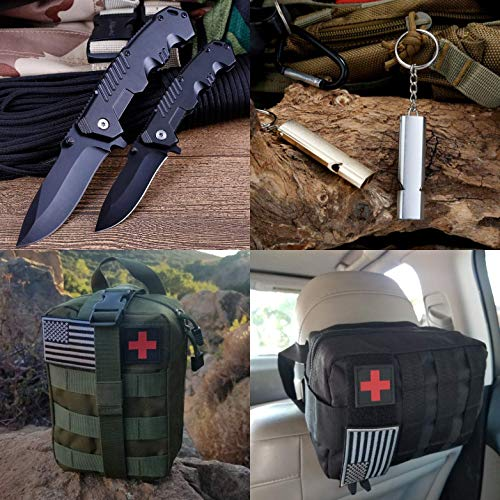 WildmanSurvival 313 pcs. Survival First Aid Kit Outdoor, Home, Office Emergency First Aid Tri-fold Molle Bag for Camping…
