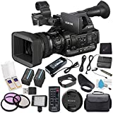 Sony PXW-X200 XDCAM Handheld Camcorder BP-U60 Lithium-Ion Battery 64GB SxS-1 (G1B) Memory Card (2-Pack) ECM-44B - Omnidirectional Lavalier Microphone Bundle