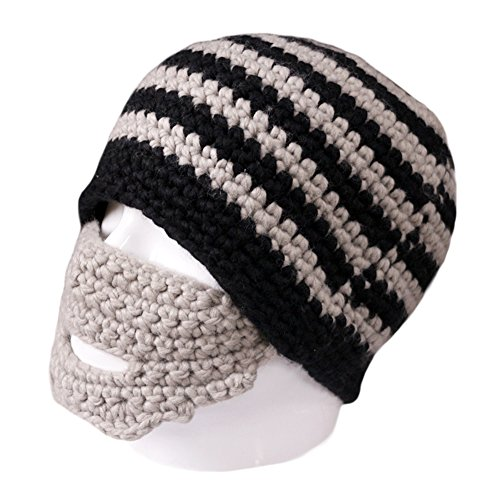 Free Fisher Unisex Knit Stubble Beard Beanie