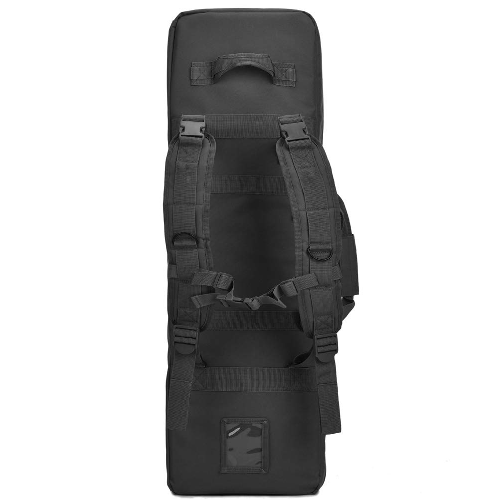BOW-TAC Double Long Rifle Gun Case Bag Tactical Rifle Backpack Pistol Soft Firearm Transportation Carbine Case - Lockable Compartment, Available Length in 36'' 42'' 46'' by BOW-TAC (Image #5)