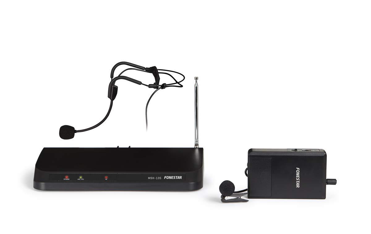 FONESTAR - Micrófono inalámbrico en VHF Fonestar MSH-135: Amazon ...