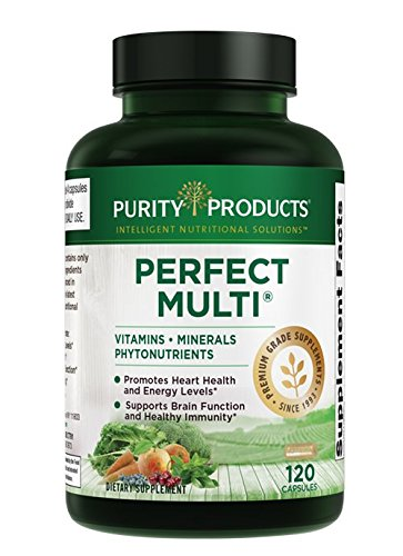 Perfect Multi Super Greens - Perfect Multi - Multivitamin | Purity Products | Packed with Vitamins, Minerals & Phytonutrients | 60 Breakthrough Nutrients | 120 Capsules (1)