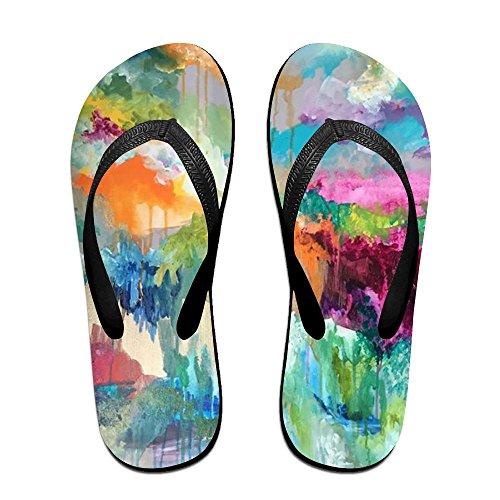 PTJHKET Flops Black Women Colorful Slippers Men Kids Flip for World rr5azqp