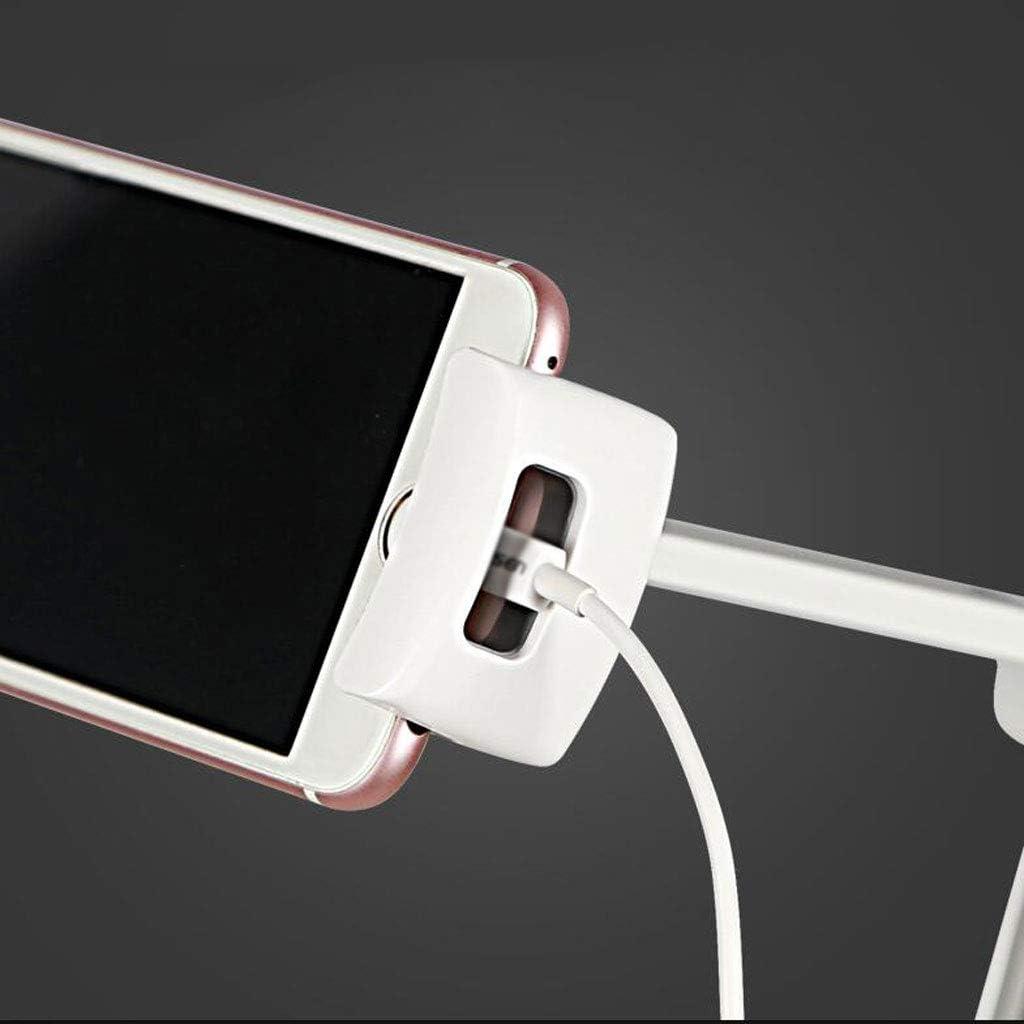 Color : Pink 270 Degree Adjustment Mobile Phone Bracket Aluminum Plate Lazy Multifunctional Creative Personality Bedside Desktop Office Student Gift 2 Color MUMUJIN