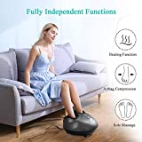 Shiatsu Foot Massager Electric Heat Kneading Foot Massage Machine with Rolling and Air Compression for Home and Office for Men and Women (Heat/Air Compression/Shiatsu can be use Separately)