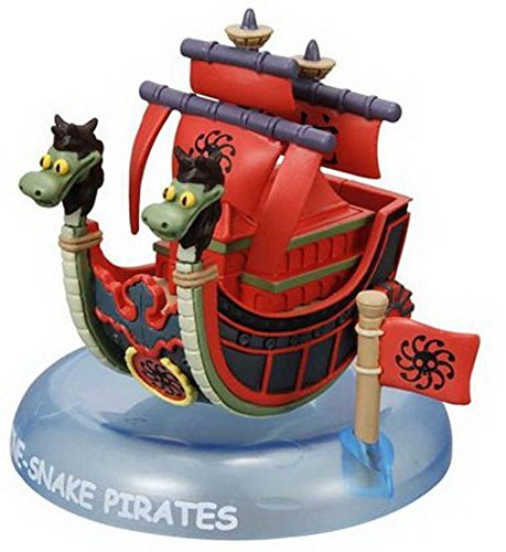 One Piece Wobbling Pirates Nine Snake Pirate Ship PVC Figure